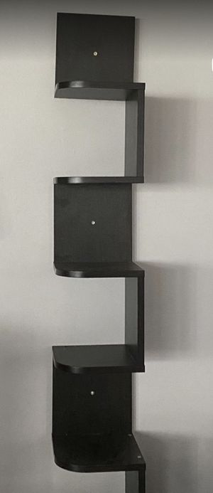 5 tier black wall shelf (New In Box). Assembly Required for Sale in Ontario, CA
