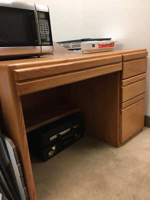 Desk and 2 bookshelves, $45/each. Excellent shape! These items are on the 2nd floor of an office building in Old Town in San Diego. You will need he for Sale in San Diego, CA