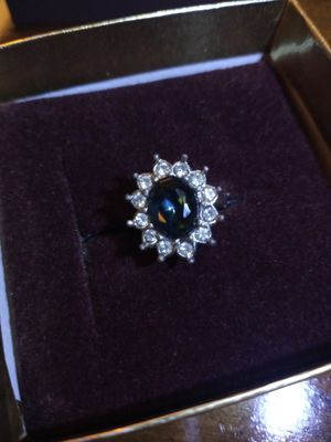 Aquamarine and white topaz ring for Sale in Akron, OH