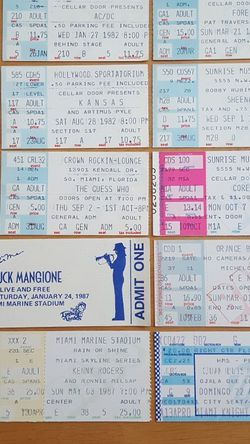 Concert Stubs for Sale in Delray Beach,  FL