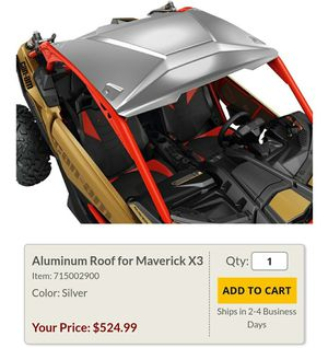 Can am maverick x3 roof for Sale in Hazard, CA