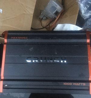 Crunch 1000 watt amp for Sale in Monroe, NC