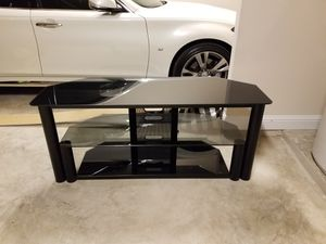 Smoke Glass Black TV stand for Sale in Pflugerville, TX