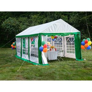 Enclosure Kit with Windows for Party Tent 10' x 20'/3m x 6m, Green/White (Frame and Cover Not Included) for Sale in Baltimore, MD