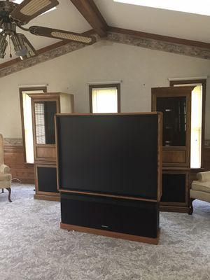 Hitachi TV w side cabinets for Sale in Petersburg, VA