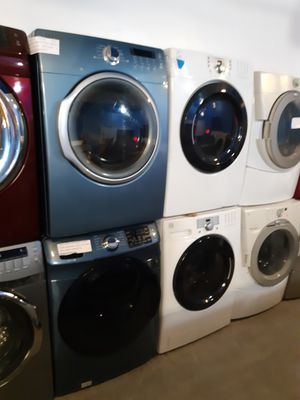 SAMSUNG FRONT LOAD WASHER AND DRYER SET WORKING PERFECTLY W/4 MONTHS WARRANTY for Sale in Baltimore, MD