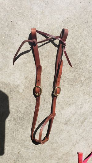 One ear leather bridle with used curb chain for Sale in Issaquah, WA