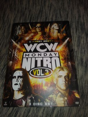 WWE THE VERY BEST OF WCW MONDAY NITRO VOLUME 3 THREE DISK SET for Sale in Kansas City, MO