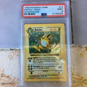 Pokemon PSA 9 Base Set Shadowless Holo Raichu for Sale in Oakland, CA
