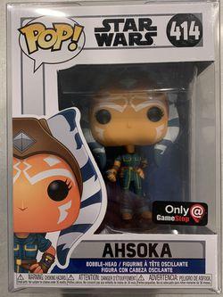 Ahsoka Tano Funko Pop *MINT* GameStop Exclusive Star Wars Clone Wars Mandalorian 414 with protector for Sale in Lewisville,  TX