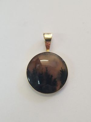 Montana Agate Gold Pendant for Sale in San Diego, CA