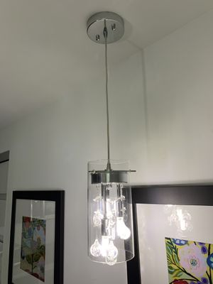 Kitchen or Island 3 lamp pendant with LED bulb for Sale in Miami, FL