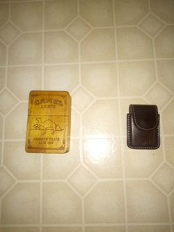 Camel cigarette box and zippo lighter with camel case for Sale in Marysville,  WA