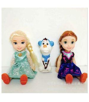 3pcs Frozen Princess Anna Elsa Olaf Dolls Toys For Girls Birthday Gift 16cm for Sale in Las Vegas, NV