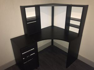 Ikea Desk with Hutch and File Cabinet for Sale in Irving, TX