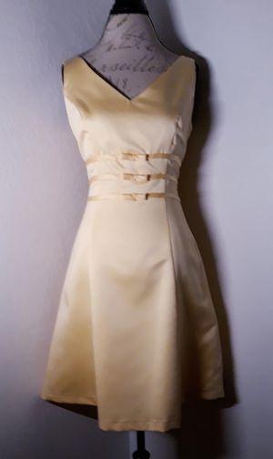 Pale Yellow Satin Formal Mini Dress Sz 12 for Sale in Las Vegas, NV