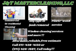 J&T MASTER CLEANER LLC for Sale in Manassas, VA