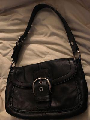 COACH Soho F13105 Black Leather Buckle Flap Shoulder Bag for Sale in Sanford, FL