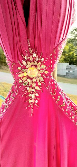 Cachet Purple Jeweled Backless Gown Prom Dress for Sale in Walden, NY