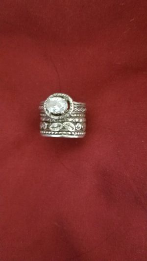 Sterling .925 silver ring sz 6 with cubic zirconia for Sale in Lebanon, PA