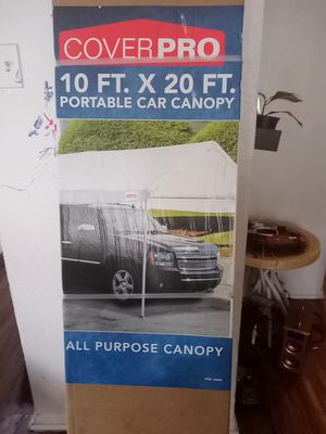 CoverPro 10 ft. X 20 ft. Portable Car Canopy for Sale in Dallas, TX