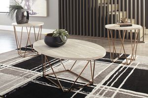 Ashley Furniture Coffee Table and End Table Set (Set of 3) for Sale in Garden Grove, CA