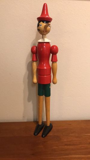 "PINOCCHIO Wooden Doll Articulated TONNA Italy Omegna 20"" Tall Movable Joints for Sale in Raleigh, NC"