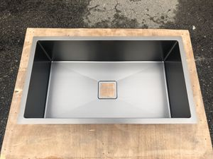 Black Stainless Steel Square Drain Sink Single Bowl 3/4 for Sale in Detroit, MI