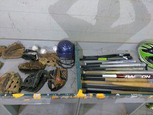 BASEBALL & SOFTBALL EQUIPMENT BAT BAGS + GLOVES + HELMETS + BATS + BALLS for Sale in Overland, MO