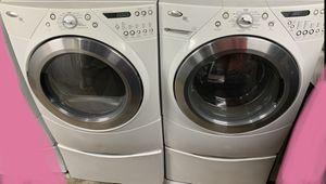 Whirlpool Steam Washer & Dryer Set on pedestals for Sale in Woodstock, GA