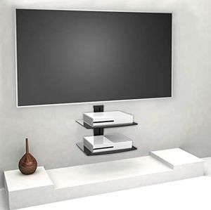 Floating Wall Shelves Set of 2 Black Glass for Sale in Las Vegas, NV