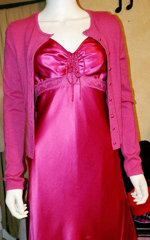 NWT- Gorgeous 100% Silk Pink/fuchsia Prom/wedding/Evening Dress w/matching Sweater by W.D.N.Y. for Sale in Sedona, AZ