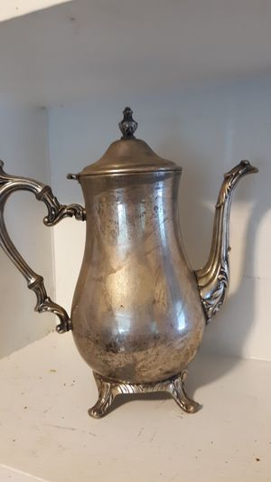 Antique W.M. Rogers 800 Sterling Silver Plate Coffee/Tea Pot for Sale in Madison, CT