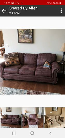 sofa with queen sleeper plus matching recliner for Sale in Festus,  MO
