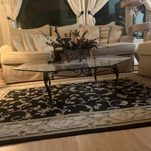 Glass Top Wrought Iron Coffee Table for Sale in Fresno, CA