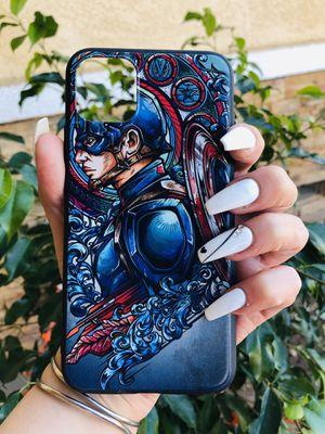 Brand new cool iphone 11 PRO MAX case cover phone case rubber Captain America marvel avengers endgame comics superhero mens guys for Sale in San Bernardino, CA