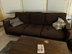 Complete Living Set - MCM, brown, good condition - couch, 2x arm chairs, coffee table and 2x end tables for Sale in Berkeley, CA