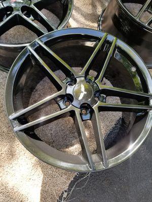 Gloss Black C6 Z06 Style Corvette Wheels rims NEW SET for Sale in Bolingbrook, IL
