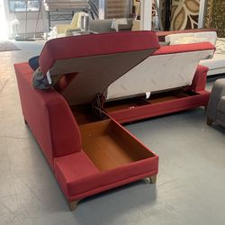 Sleeper Sectional With Storage Underneath Brighten Your Living Room for Sale in Bellwood,  IL