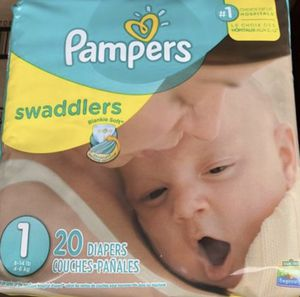 Diapers - Pampers Swaddlers size 1 for Sale in Oklahoma City, OK