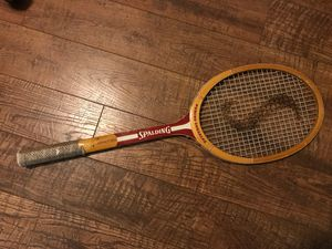 TENNIS RACKET VTG NOS Spalding Pancho Gonzales Impact 333 Wood Wooden Racquet for Sale in Scottsdale, AZ