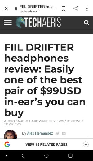 Fiil drifter (ultra premium) wireless earbuds for Sale in Phoenix, AZ