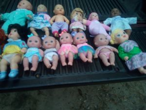 Little girl baby dolls $5 each or two for $8 for Sale in Princeton, NC