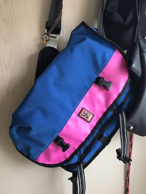 Blue and Pink Chrome Messenger Bag - Perfect condition! for Sale in Portland, OR