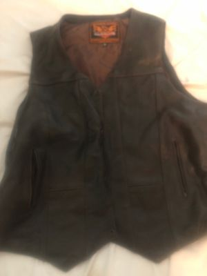 Distressed Brown Motorcycle Vest for Sale in Richmond, VA