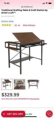 Tall Drafting Table for Sale in San Angelo,  TX