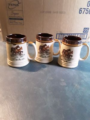 Set of 3 horse mugs. for Sale in Linden, PA