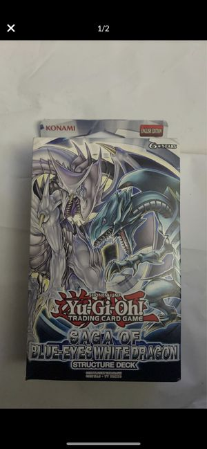 New KONAMI Yu-Gi-Oh Saga of Blue-Eyes White Dragon Card Deck for Sale in Laguna Niguel, CA