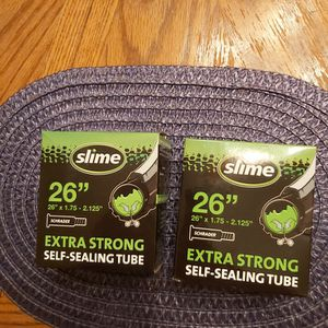 "2 Slime 26""x 1.75- 2.125"" Tire Tubes for Sale in Chico, CA"