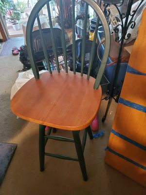 2 TALL WOOD SWIVEL BAR STOOLS 40.00 for Sale in Massillon, OH